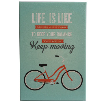 Wall Canvas (Quote) Life Is Like Riding A Bicycle You Must Keep Moving - Seruni Living