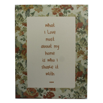 Wall Canvas (Quote) What I Love Most About My Home Is Who I Share It With - Seruni Living