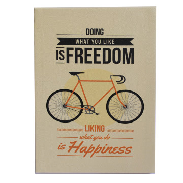 Wall Canvas (Quote) Doing What You Like Is Freedom Liking What You Do Is Happiness - Seruni Living