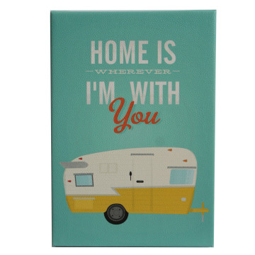 Wall Canvas (Quote) Home Is Wherever I'm With You - Seruni Living