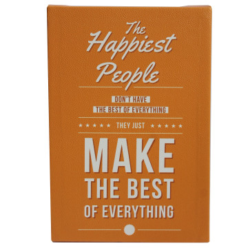Wall Canvas Quote The Happiest People Make The Best - Seruni Living