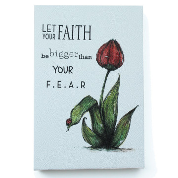 Wall Canvas (Quote bergambar Tulip) Let Your Faith - Seruni Living