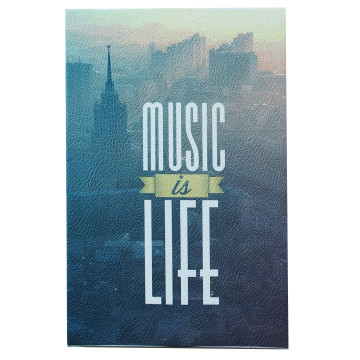 Wall Canvas Quote Music is Life - Seruni Living