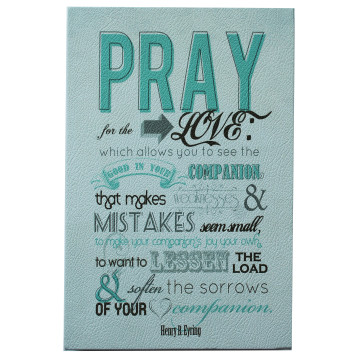Wall Canvas (Quote) Pray - Seruni Living