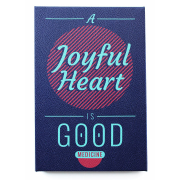Wall Canvas (Quote) A Joyful Heart - Seruni Living