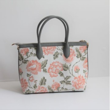 Small Hand Bag Chrysant Cream