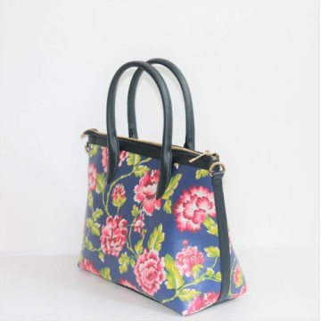 Small Hand Bag Chrysant Biru