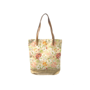 Tote Bag Premium - Hortensia Cream - Seruni living
