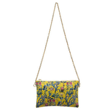 Karina Vegan Leather Pouch Yellow Orchid