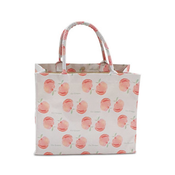 Peach Big Tote Bag Grey - Tas serba guna