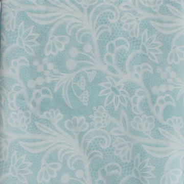 Vanilla Voal Square Lace Blue