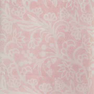 Vanilla Voal Square Lace Soft Pink