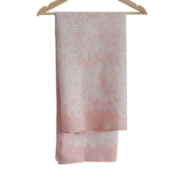 Vanilla Voal Square Lace Light Pink