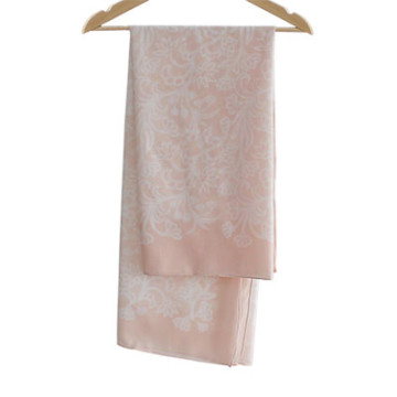 Vanilla Voal Square Lace Peach
