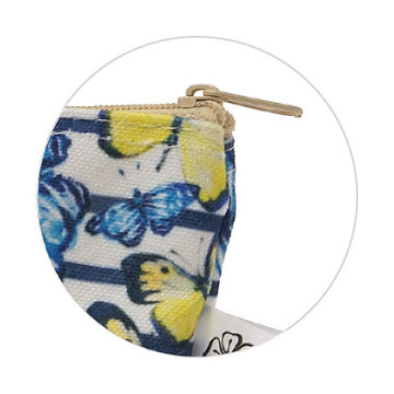 Aisya Pouch Blue With Butterfly
