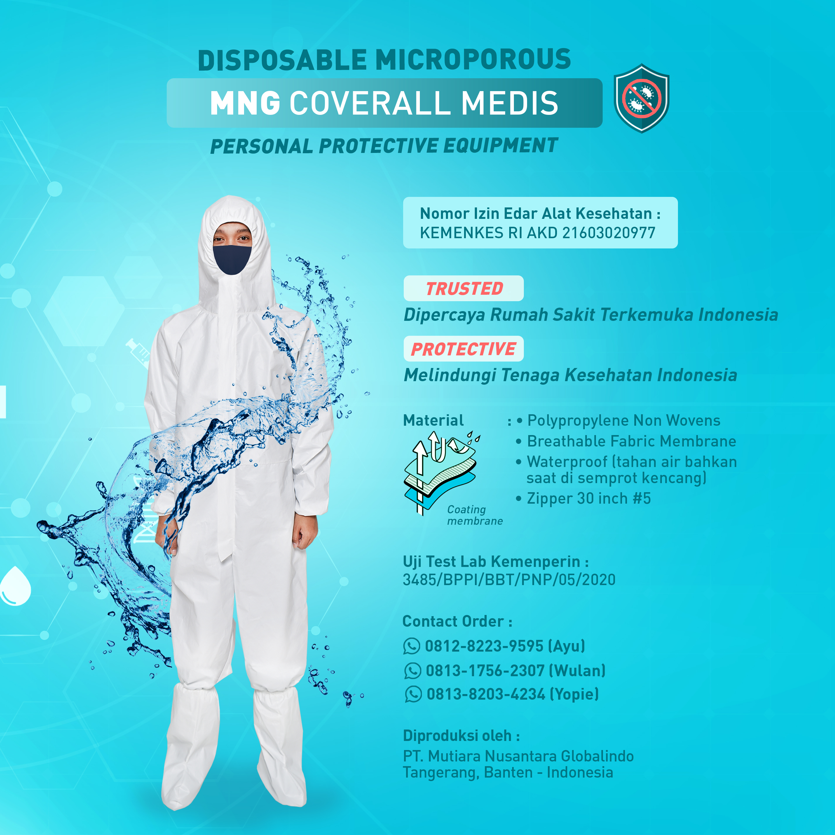MNG Coverall Medis Membrane