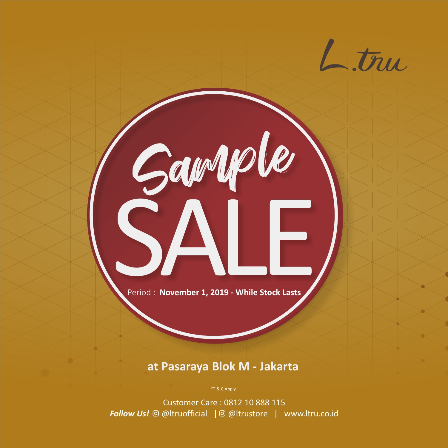 L.tru SAMPLE SALE NOVEMBER 2019 image