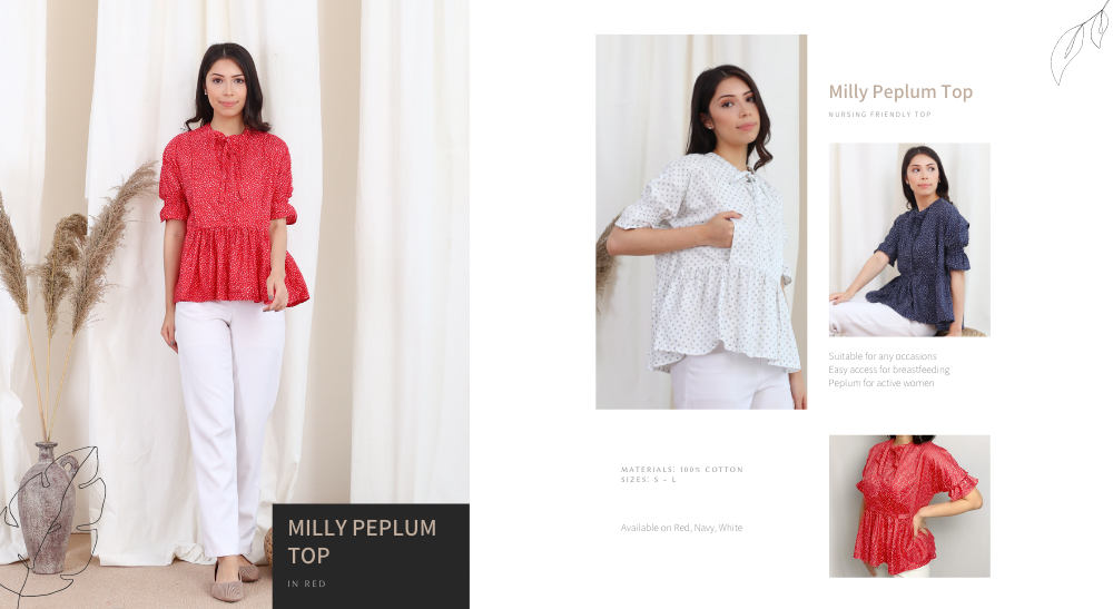Milly Peplum Top