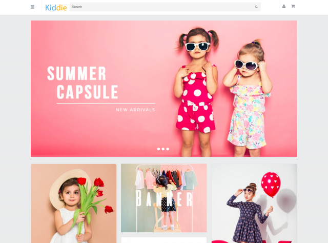 Kidswear Demo Tile