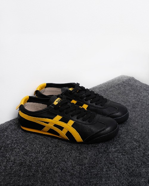 the latest 3889d ce547 Onitsuka tiger Mexico 66 Black - Gold Fusion - Black Yellow ...