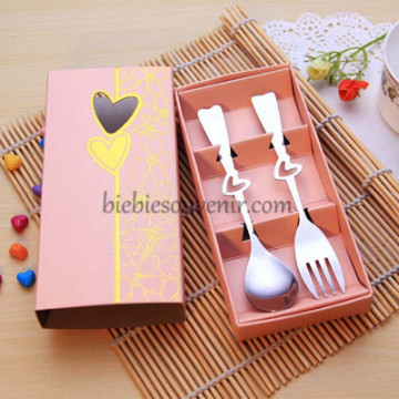 Peach Spoon and Fork Set image