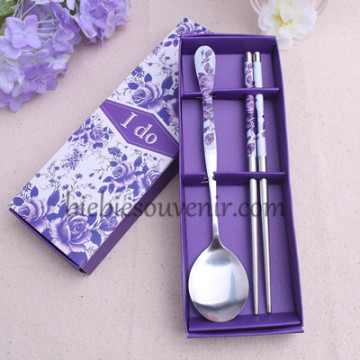 Violet Spoon and Chopstick Set image