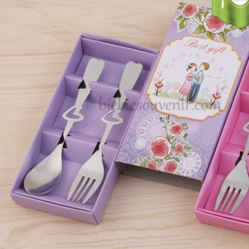 Chic Spoon and Fork Purple image