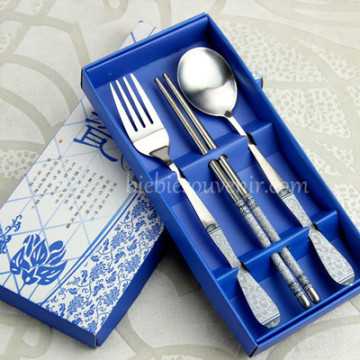 Blue 3 in 1 Cutlery Set image