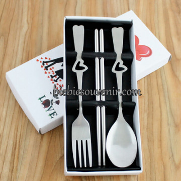 White 3in1 Cutlery Set image