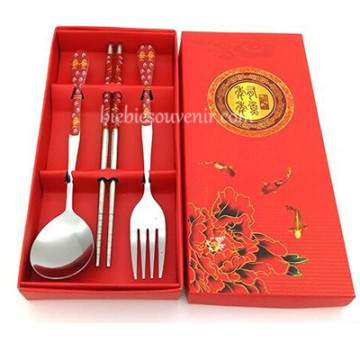 Red 3in1 Cutlery Set image