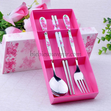 Pink 3in1 Cutlery Set image