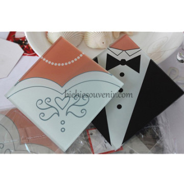 Bride and Groom Coaster image