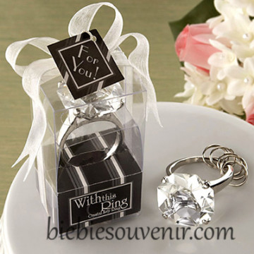 White Ring Keychain image