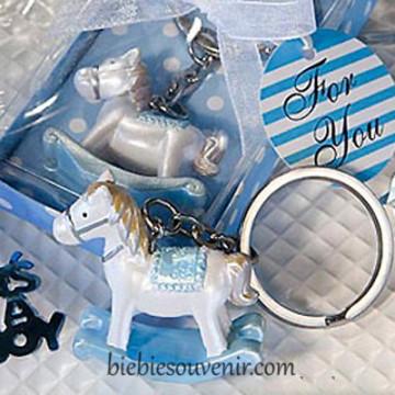 Blue Horse Keychain image