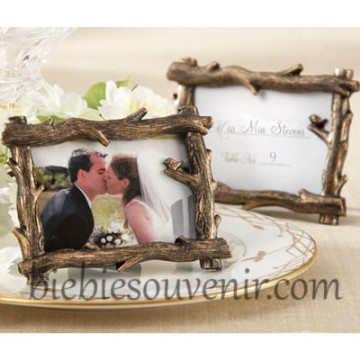 Golden Rustic Branch Frame image