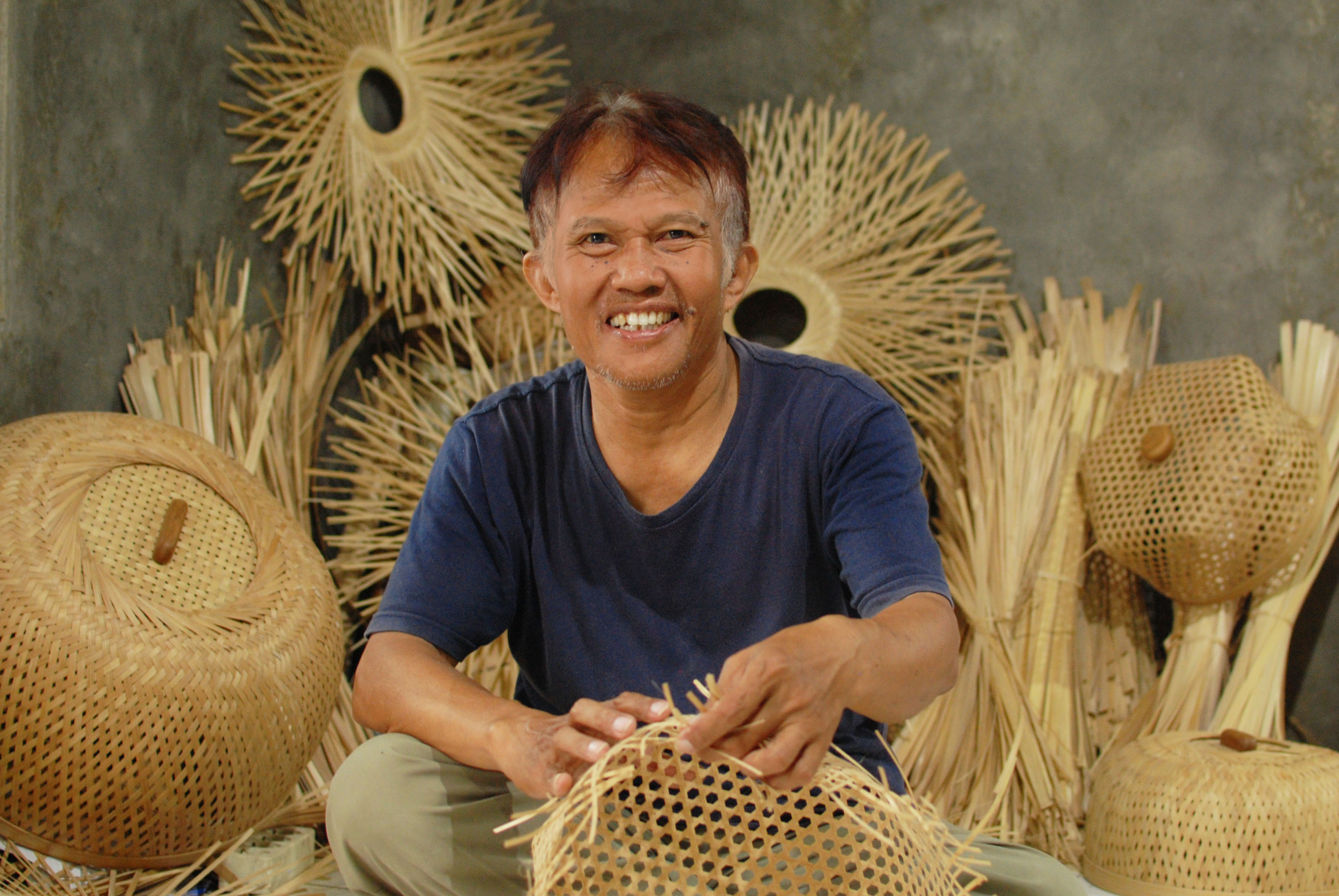 studio dapur bamboo artisan Pak Toto