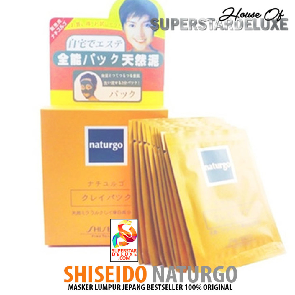 Shiseido Naturgo Masker Lumpur 1 Box 10 Sachet Shisedo Maskmasker