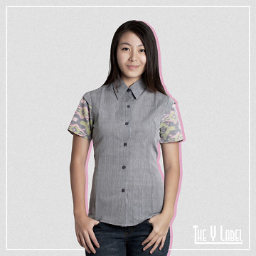 The Y Label Summer Soul Ikat Short Sleeve Grey (Womenswear)