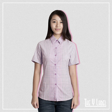 The Y Label Summer Soul Plaid Short Sleeve Light Pink (Womenswear)