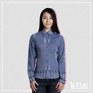 The Y Label Summer Soul Jacquard Long Sleeve Dusty Blue (Womenswear)
