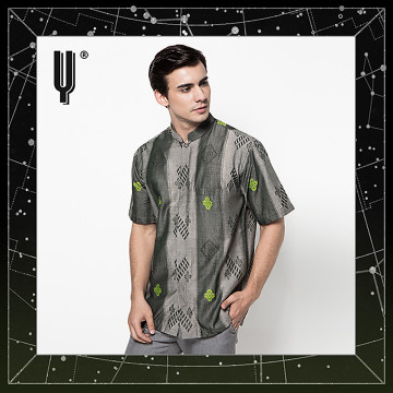 The Y Label Phoenix Jacquard Short Sleeve Grey Green