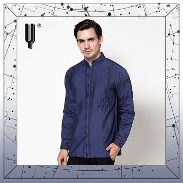 The Y Label Phoenix Jacquard Long Sleeve Cobalt Blue