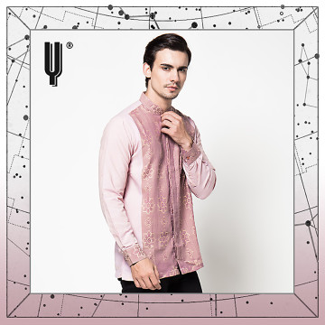The Y Label Phoenix Jacquard Long Sleeve Peach Cloud