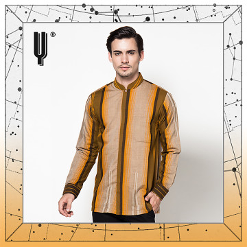 The Y Label Apollo Strimin Long Sleeve Cream-Ochre