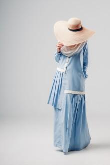 Ghenia Cotton Dress Blue