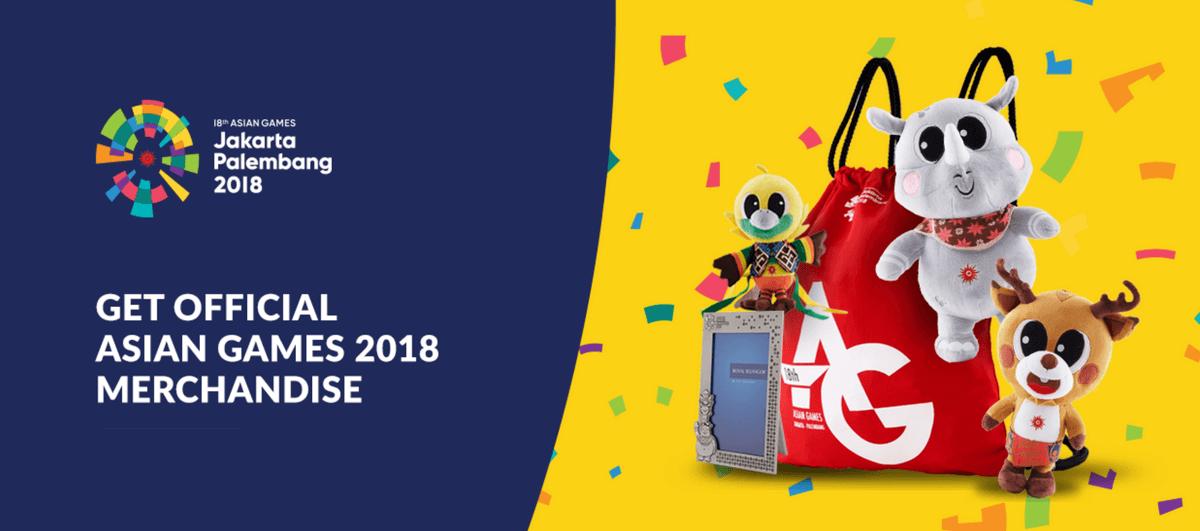 official asian games 2018 merchandise