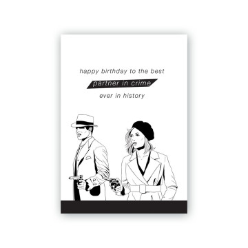 Bonnie and Clyde Greeting Card
