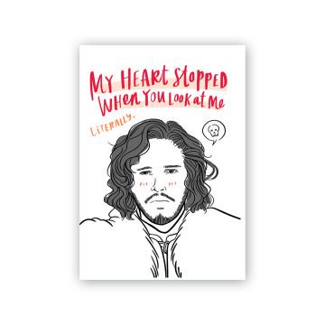 Jon Snow Valentine Card