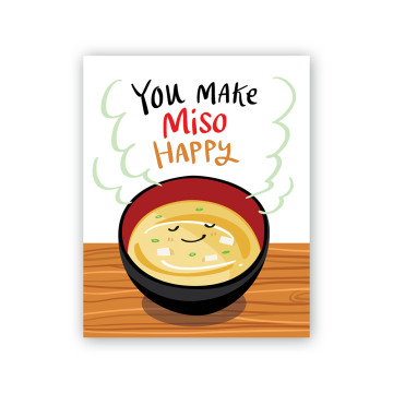 Miso Happy Greeting Card