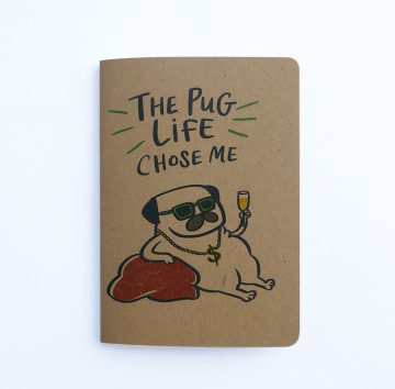 Pug Life Pocket Notebook